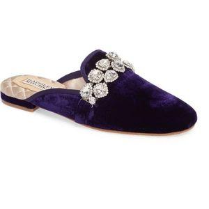 NEW Badgley Mischka Wade Slipper Purple Velvet